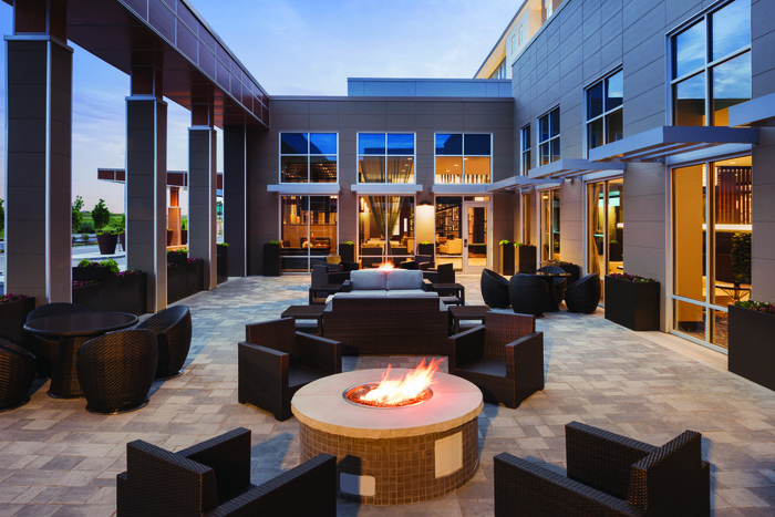 Embassy Suites Outside Patio
