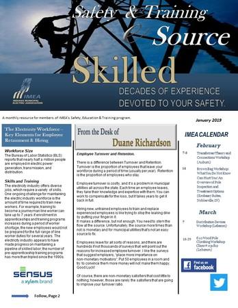 January Safety & Training eSource Newsletter