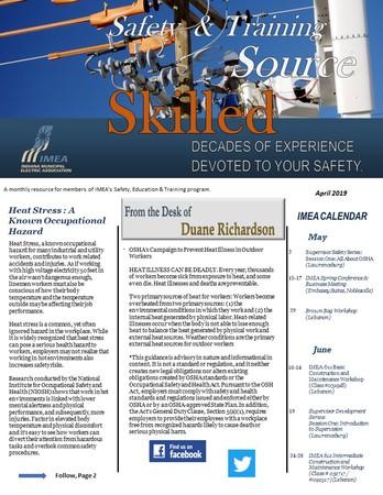 April Safety & Training eSource Newsletter