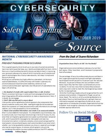 October Safety & Training eSource