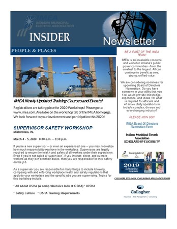2020 January Insider Newsletter
