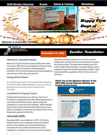 September Insider Newsletter e-Bulletin